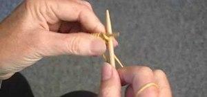 Knit the triangle edge stitch