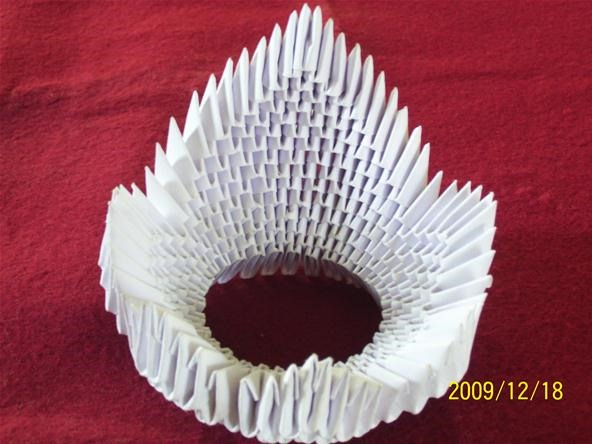 Origami 3d crown