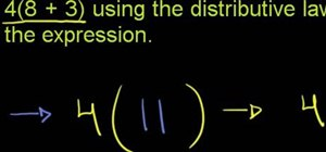 Rewrite expressions with the distributive law of multiplication