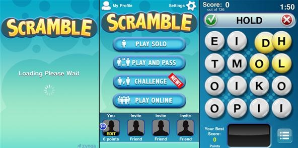 Scramble with Friends: Zynga's Newly Released Word Game for iOS