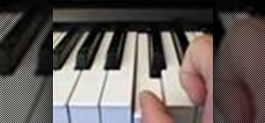 Play sharps and flats on a piano