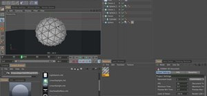 Build a glass mesh softbody with dynamics in Cinema 4D