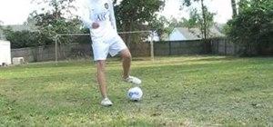 Do a Trivela free kick