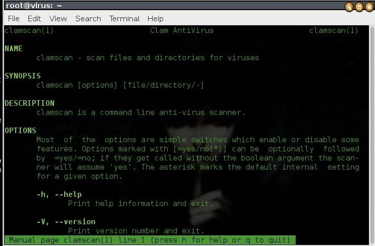Anti-Virus in Kali Linux
