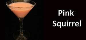 Make a Pink Squirrel cocktail