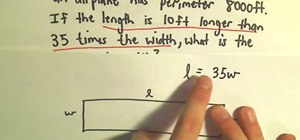 Solve a word problem for the perimeter of a rectangle