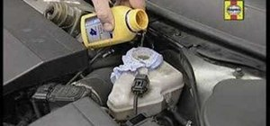 Top up your car's brake fluid