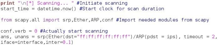 How to Build an ARP Scanner Using Scapy and Python « Null