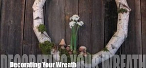 Createa birch holiday wreath with terrain