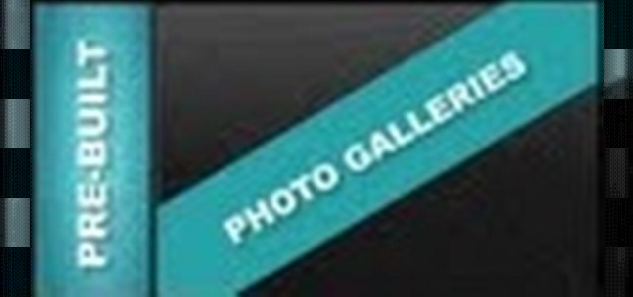 Edit Pre-Built Photo Galleries Xara Web Designer 7 Premium