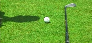 Cure a push shot in golf with proper ball position