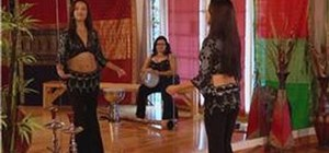 Do the vertical figure-8 belly dance move