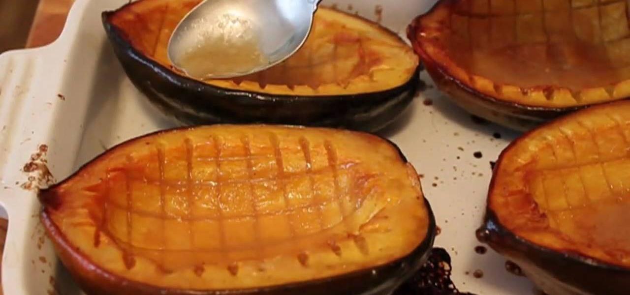 How to Make baked acorn maple-glazed squash « Vegetable Recipes