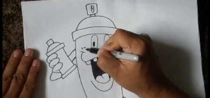 Draw a simple spraycan character