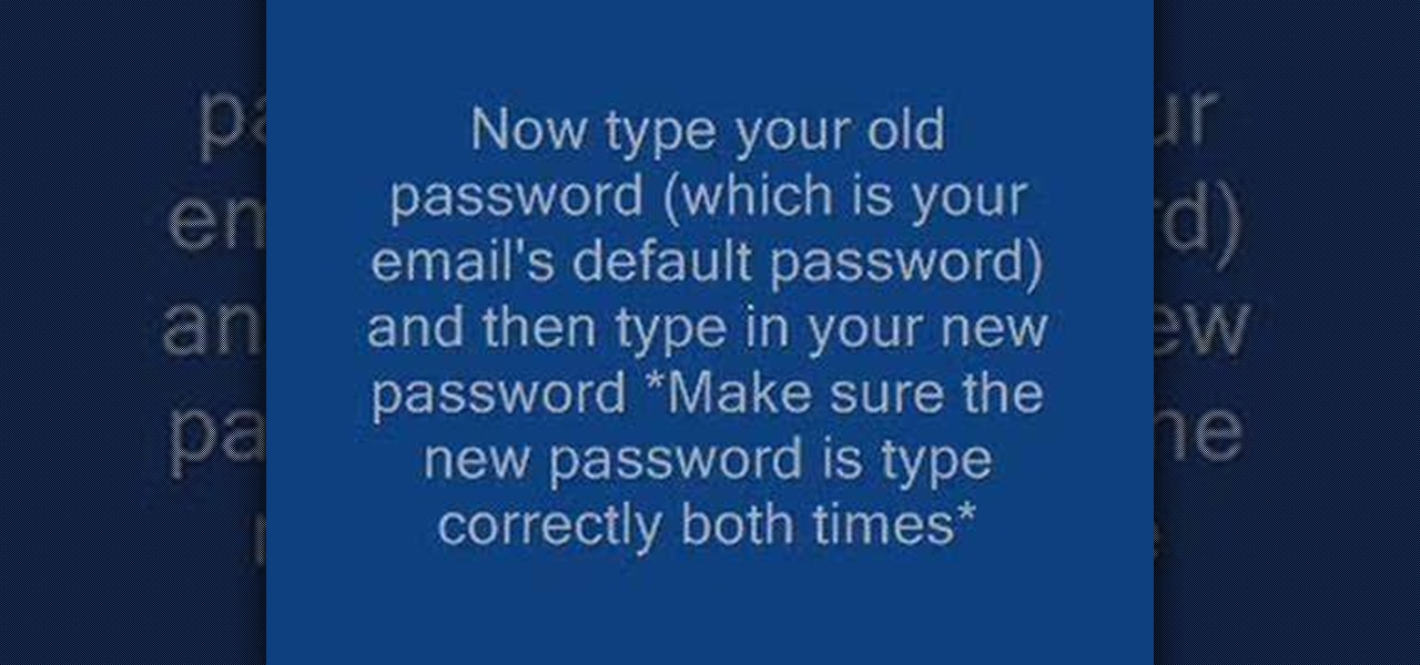 how to change password on microsoft outlook mail