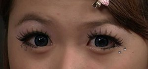 Create a wide-eyed Japanese dolly eye makeup look