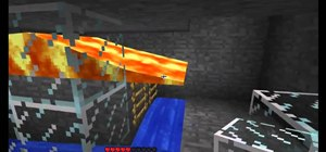 Build a simple lava monster trap in Minecraft