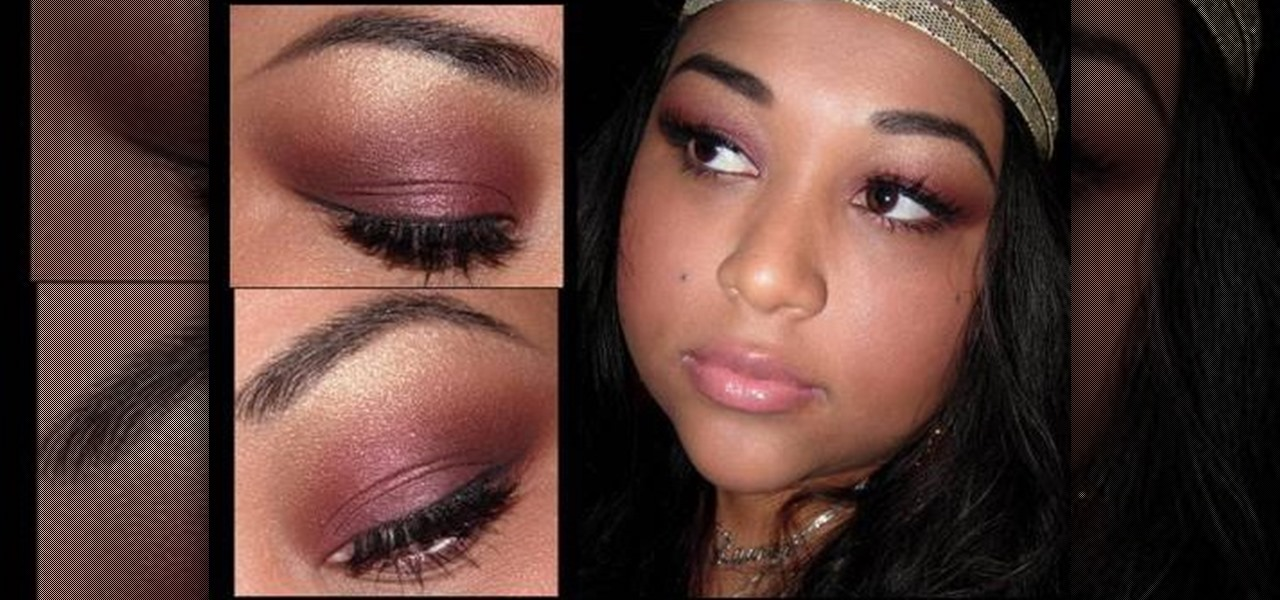 How to Apply sultry golden burgundy eye makeup u00ab Makeup