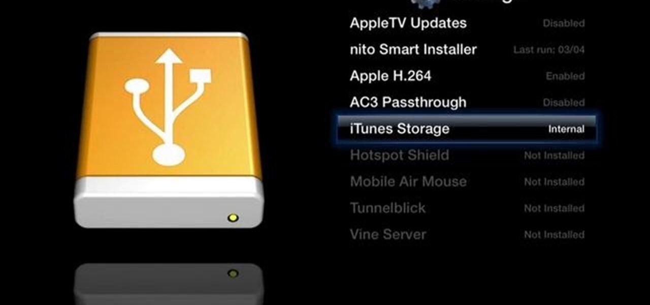 Hooking up an external hard drive to apple tv
