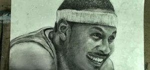 Draw NBA superstar Carmelo Anthony of the New York Knicks