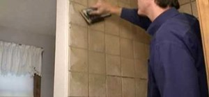 Grout tile in your custom tiled shower
