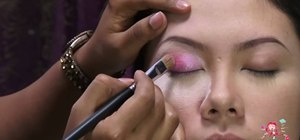 Add crystals to your eye makeup for a pop of color