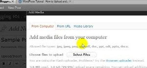 Upload a PDF or MS Office file to your WordPress blog and create a link