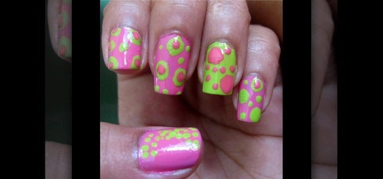How to Create cute polka dot acrylic nails « Nails & Manicure