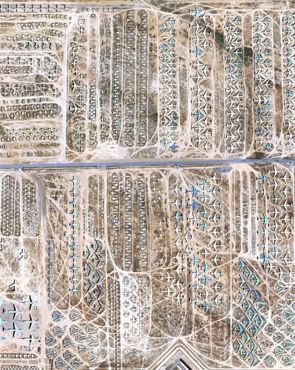 Ultimate Aircraft Boneyard Now Visible on Google Maps