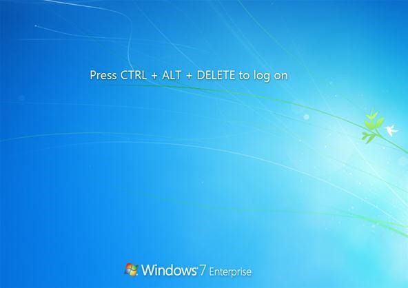 How to Add Ctrl+Alt+Delete to Windows 7 Logon