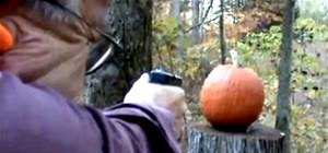 The Fastest Way to Carve a Pumpkin? With a Glock