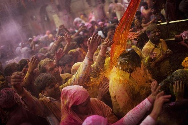 India Soaked in Holi Colors