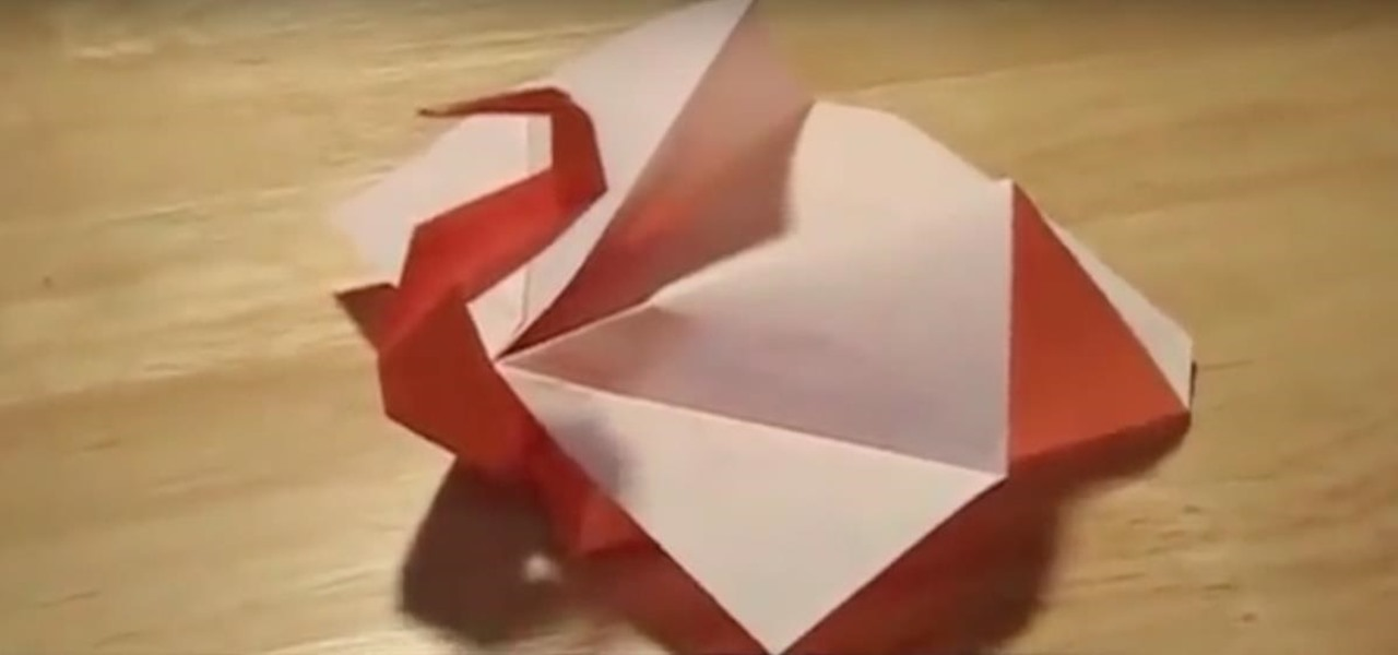 Fold an Origami Peacock or Turkey