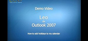 Add holidays to your Microsoft Outlook calendar using Leo from Kryon Systems