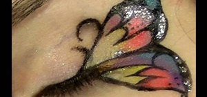 Apply butterfly makeup eyes