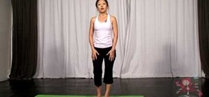 Do a balancing toe hold yoga posture