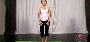 Do a balancing toe hold yoga posture