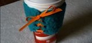 Make your own little coffee corset or cup holder