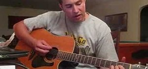 "Play ""Lips of an Angel"" by Hinder on acoustic guitar"