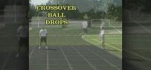 Practice ball drop drills for football