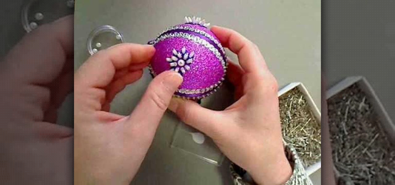 plum ruffled christmas wreath ornament