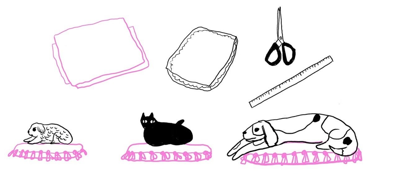 Make an Easy No-Sew Pet Bed for Your Cat or Dog