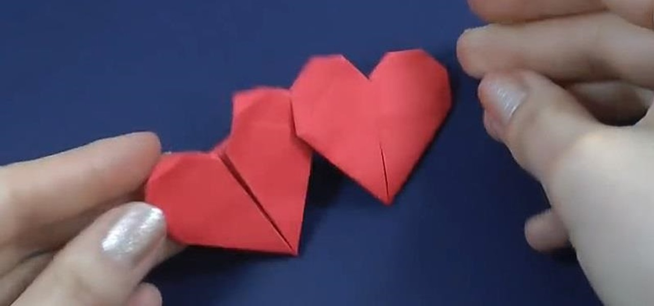Make an Origami Double Heart