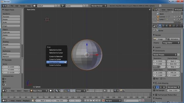 Create and rig a bouncing ball in Blender 2.5