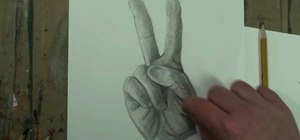 "Draw a hand making a ""peace sign"""