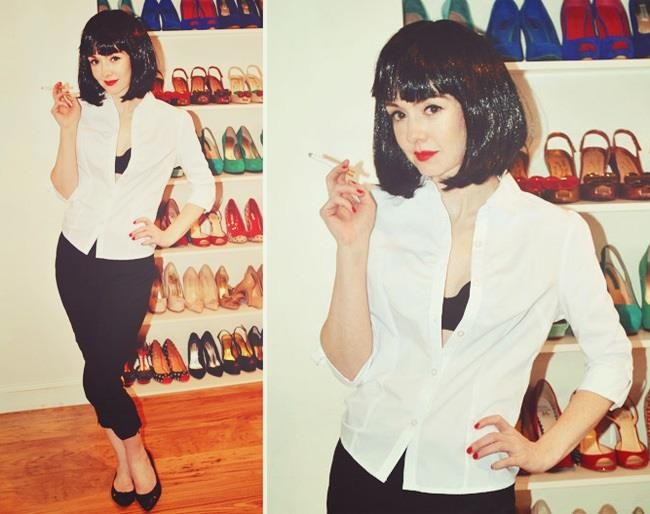 Mia wallace styled wig 6 degrees of john travolta pinterest mia wallace d guisements et - Deguisement pulp fiction ...