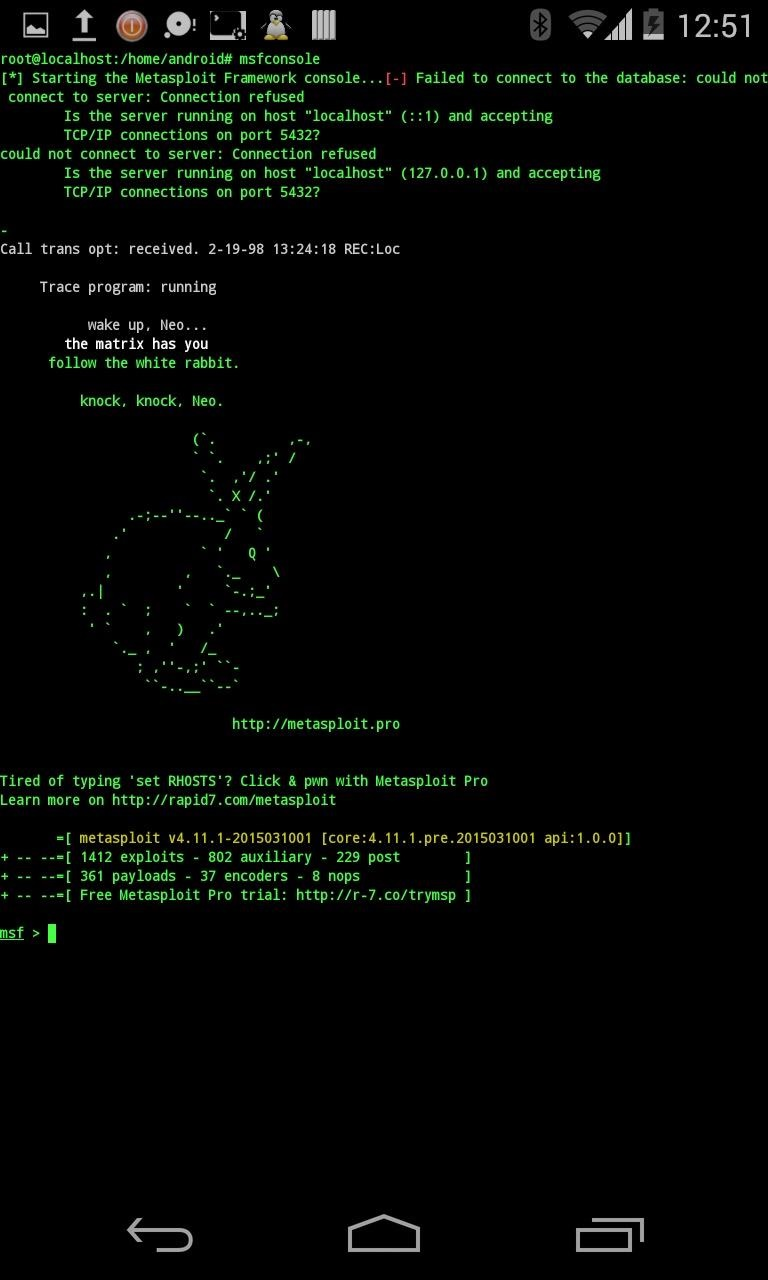 Kali Linux on Android Phone with Metasploit,… | Android