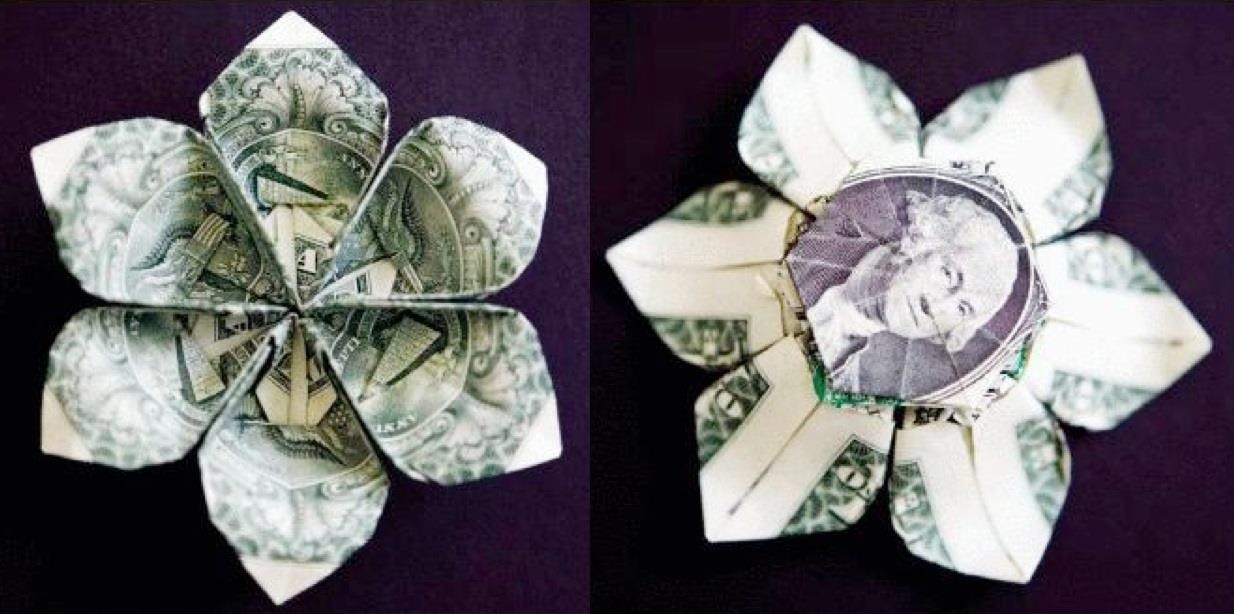 Money Origami, Flower Edition: 10 Different Ways to Fold a ... - photo#37