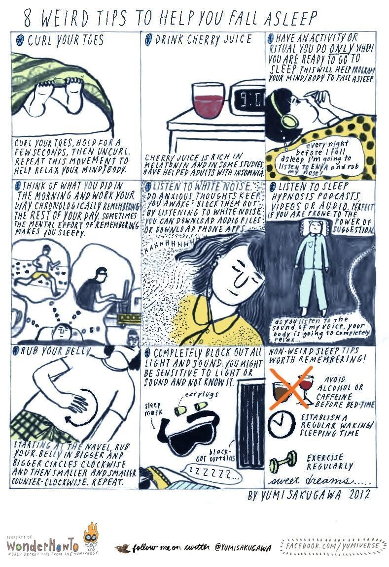 8 Weird Tips to Fall Asleep